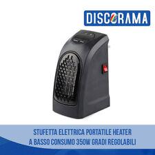 STUFA STUFETTA ELETTRICA PORTATILE HEATER A BASSO CONSUMO 350W GRADI REGOLABILI