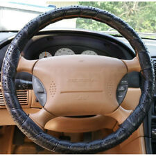 Deluxe Lace Up Steering Wheel Cover Car Van Leather Look Soft Large 39-41cm