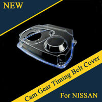 Car Clear Cam Gear Timing Belt Cover For NISSAN R32 R33 R34 GTS RB25DET