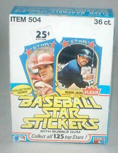 1981 Fleer Baseball Star Stickers Empty Wax Box