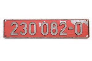 """Original Guss Lokschild / Loknummernschild """" 230 082-0 """" der CD / CSD - 3TRE203"""