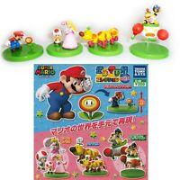 Set 4 Figure Super Mario TOMY Wiggler! Wiggler Peach Toad Bowser Figures