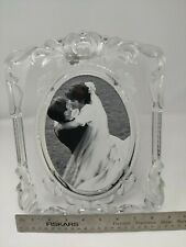 """Mikasa Princess Lead Crystal 11 1/4"""" Frame Holds 5"""" x 7"""" Oval Picture"""