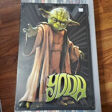 Star Wars Yoda Jedi Textured Embossed Metal Sign 12x18 Using the Force OA1C18
