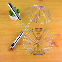 Stainless Steel Fine Chinois Mesh Skimmer Strainer Ladle New Kitchen Tools w/