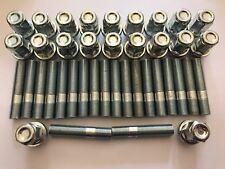 20 x M12X1.5 Borchie Cerchi In Lega + Dado di conversione 60mm di lunghezza si adatta AUDI 57.1 4X100