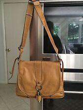 NWOT Francesco Biasia gold tan camel leather hobo handbag pocketbook