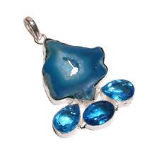 Collares y colgantes de joyería azul colgantes topacio