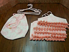 Handmade Set/6 Dust Protectors/Hangers' Covers w/Bag x Baby Girl Cloth/Shoes NEW