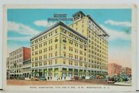 Washington DC HOTEL HARRINGTON 1930s Postcard M5