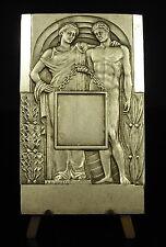 Médaille Homme et femme à l'antique Man and woman in ancient Bouillot 10cm medal