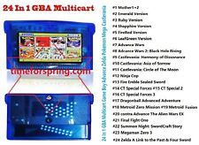 24 in 1 GBA Multicart For Gameboy Advance Video Games GBA GBM GBASP NDSL