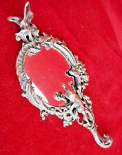 Vintage Mirror metal bronse. For make-up women. Art Decor table Mirror.
