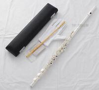 Professional Cupronickel Silver C Key Flute 17 Open Hole B Foot Split E Offset G