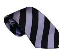Men's black and lavender stripped woven tie