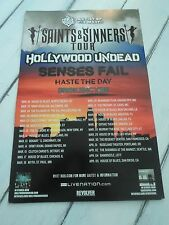 """SAINTS & SINNERS Concert Poster HASTE THE DAY San Diego House of Blues 11""""x17"""""""