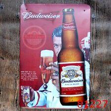 Metal Tin Sign budweiser beer Bar Pub Vintage Retro Poster Cafe ART