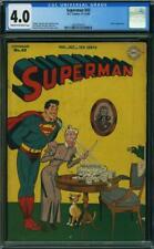 Superman #43 CGC 4.0 DC 1946 Luthor! Golden Age! Action! JLA! K4 219 cm