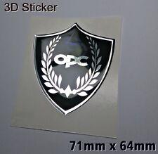 Opel OPC 3D Logo Aufkleber- Abzeichen Chrom-Effekt