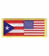 American Flag Puerto Rico Flag Patch, Puerto Rican Patches