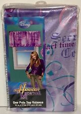 Disney HANNAH MONTANA Montage ONE POLE TOP VALANCE Drape Curtain NEW