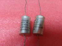 4x MALLORY TCW501H012G1BP 500uF 12V ELECTROLYTIC AXIAL THROUGH HOLE CAPACITORS