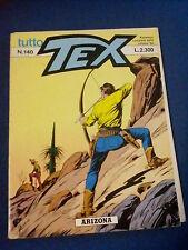 TUTTO TEX ARIZONA NUMERO 140 SERGIO BONELLI 24-12-1992 COPERTINA CHE SI STACCA