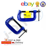"""2Pc G Clamp Set 4"""" (100mm) Heavy Duty Screw G-Clamps for Wood & Metal Work"""