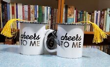 """Cheers TO ME"" Mug with Graduation hat by Home-Essentials. NEW"