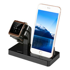 Charging Stand Mount Cradle Station Dock for Apple Watch and iPhone X 6 6s 5 7 8 Black