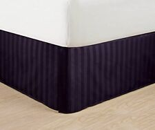"""Luxurious Egyptian Quality Weave Stripe Bed Skirt - Pleated Tailored 14"""" Drop"""