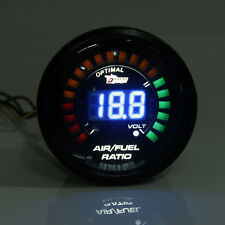 2'' 52MM LED DIGITAL CAR AUTO AIR / FUEL RATIO MONITOR RACING GAUGE ANALOG NEW