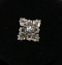 Vintage Brooch Pin - Clear Rhinestone Snowflake - Beautiful - Costume Jewelry