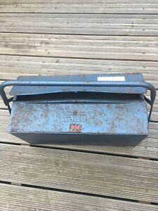 TALCO Vintage Cantilever Tool Box Blue British made reasonable condition