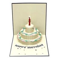 3D Pop Up Happy Birthday Handmade Greeting Card Kirigami Gift for Easter Day