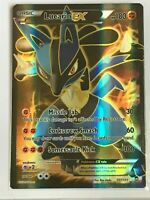 Lucario EX FULL ART ULTRA RARE 107/111 Pokemon TCG XY Furious Fists Holo Rare NM