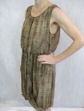 By Nicola Finetti Size 12 Brown Tie Die Print Smart Dress