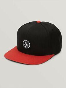 Volcom Quarter Twill Snapback Hat Baseball Cap New Brindle Orange Red Mens