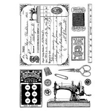 Crafty Individuals Rubber Stamps - Sewing Notions - Machine, Thread, Buttons