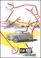 PUBBLICITA' FIAT 1900 GRANLUCE AUTO SESTRIERE SCIATORE INVERNO NEVE TURISMO 1953