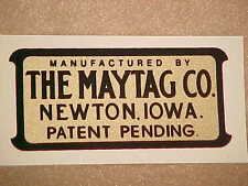 Maytag Decal  Multi-Motor Gas Engine Wringer Washer