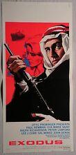Locandina EXODUS 1°ED.ITAL.1962 RARISSIMA!! PAUL NEWMAN, JOHN DEREK