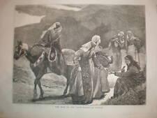 Mujeres de Georgia (Europa) 1877 impresión