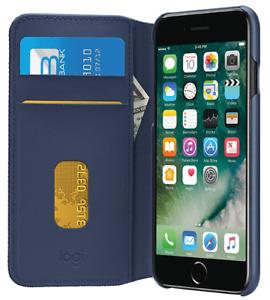 Logitech Blue Hinge Flexible Wallet Case for iPhone 7 Plus