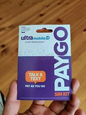 Brand New Ultra Mobile Sim Card PayGo $3/month first month free