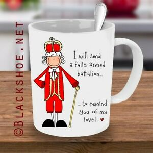 Hamilton Musical Mug. King George Quote 11oz Mug with gift box. by Blackshoe