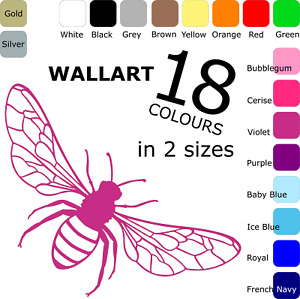 Bumble Bee, Wasp, Insect, Decal Sticker - Wall Art Decoration 18 Colours 2 Sizes