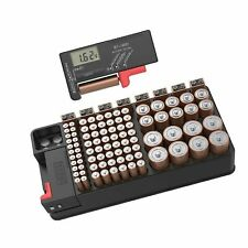 Battery Organizer Storage case with Tester can Hold 110 Battery Various Sizes.