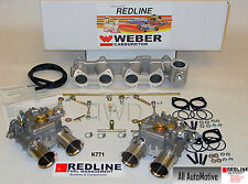 Dual 45 DCOE Weber kit fits Toyota 22R 1981-1984 Pickup - Genuine European Weber