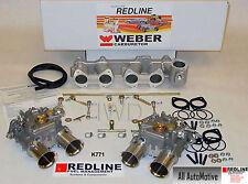 Dual 45 DCOE Weber kit fits Toyota 22R 1981-1984 Pickup - Genuine European Weber